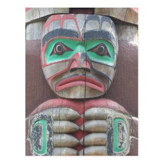 Cartão Postal Detalhe de Totem pólo