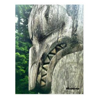 Cartão Postal Detalhe de um totempole
