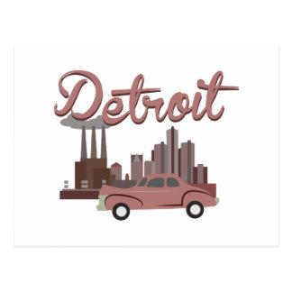 Cartão Postal Detroit
