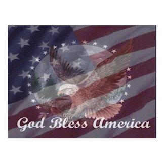 Cartão Postal Deus abençoe América