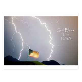 Cartão Postal Deus abençoe dos curto circuitos os EUA