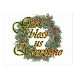 Cartão Postal Deus abençoe nós todos