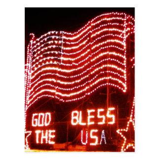 Cartão Postal Deus abençoe os EUA