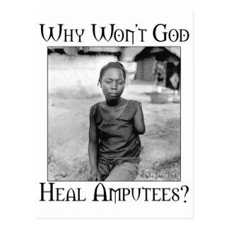 Cartão Postal Deus contra amputados