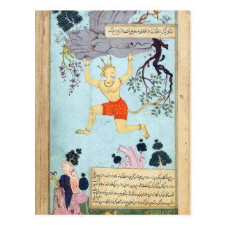 Cartão Postal Deus do macaco de Ramayana
