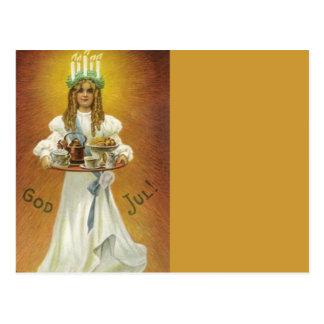 Cartão Postal Deus julho!  Criança de Lucia com deleites