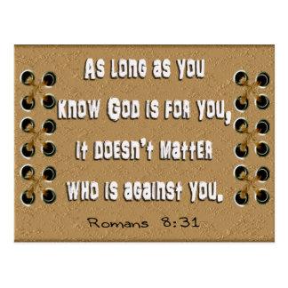 Cartão Postal Deus para você