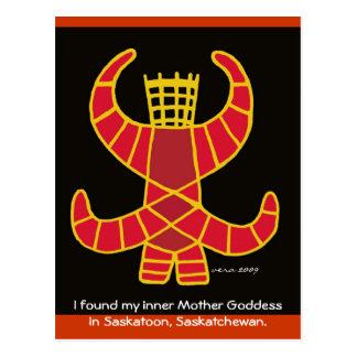 Cartão Postal Deusa Berehynia da mãe por Vera Trembach