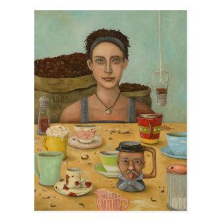 Cartão Postal Deusa do café