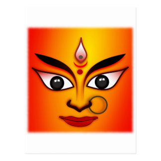 Cartão Postal Deusa Hindu Durga