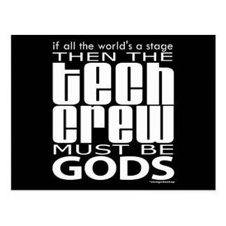 Cartão Postal Deuses do grupo da tecnologia