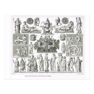 Cartão Postal Deuses e criaturas mythical