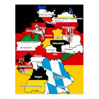 Cartão Postal Deutsche Bundesländer