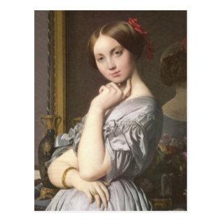 Cartão Postal d'Haussonville de Comtesse (detalhe), Ingres