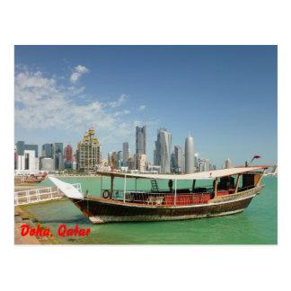 Cartão Postal Dhow 2011 e skyline de Doha