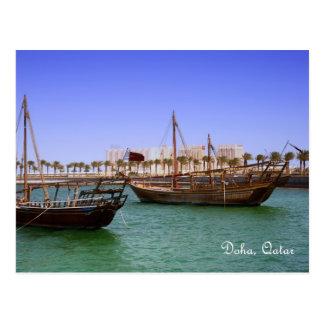 Cartão Postal Dhows na baía de Doha
