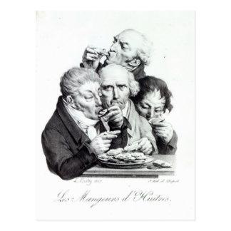 Cartão Postal d'Huitres de Les Mangeurs, 1825