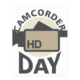 Cartão Postal Dia da câmara de vídeo - dia da apreciação