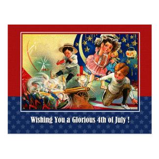 Cartão Postal Dia da Independência, 4o de julho
