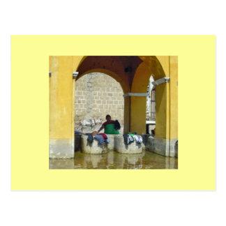 Cartão Postal Dia da lavagem em Antígua