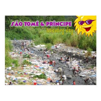 Cartão Postal Dia da lavanderia em Sao Tome and Principe, África