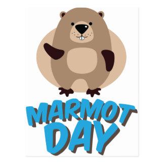 Cartão Postal Dia da marmota - dia da apreciação