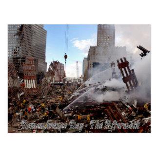 Cartão Postal Dia da relembrança - as consequências