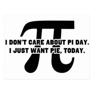 Cartão Postal Dia da torta do dia do Pi