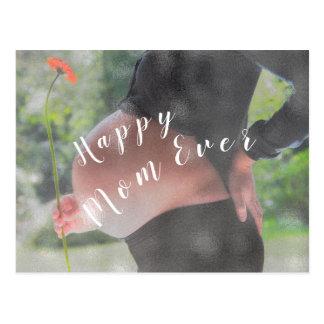 Cartão Postal Dia das mães feliz da foto dos parabéns da mamã