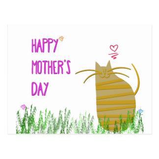 Cartão Postal Dia das mães feliz | do gato