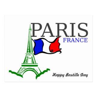 Cartão Postal Dia de Bastille feliz France