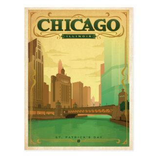 Cartão Postal Dia de Chicago, IL - St Patrick