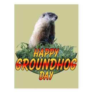 Cartão Postal Dia de Groundhog feliz