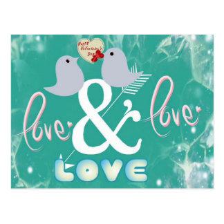 Cartão Postal Dia de são valentim azul do amor do Cupido dos