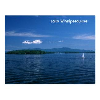 Cartão Postal Dia de verão de Winnipesaukee do lago