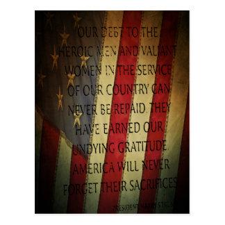 Cartão Postal Dia de veteranos Harry S. Truman