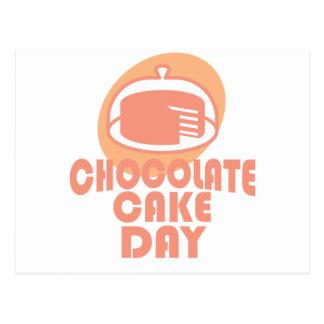 Cartão Postal Dia do bolo de chocolate - dia da apreciação