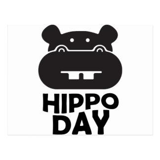 Cartão Postal Dia do hipopótamo - 15 de fevereiro