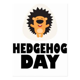 Cartão Postal Dia do ouriço - dia da apreciação