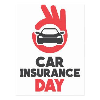 Cartão Postal Dia do seguro de carro - dia da apreciação