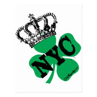 Cartão Postal Dia do St. Patricks do trevo da Nova Iorque de NYC