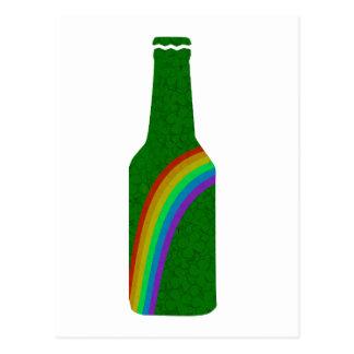 Cartão Postal Dia do St. Patricks - garrafa