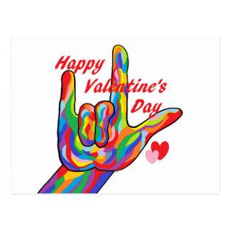 Cartão Postal Dia dos namorados do ASL eu te amo