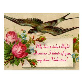 Cartão Postal Dia dos namorados do vintage meu coração toma… o