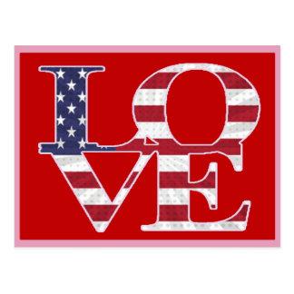Cartão Postal Dia dos namorados patriótico
