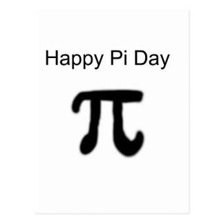 Cartão Postal Dia feliz do Pi