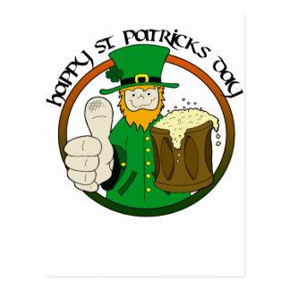 Cartão Postal Dia feliz do St. Patricks