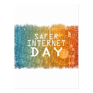 Cartão Postal Dia mais seguro do Internet - dia da apreciação