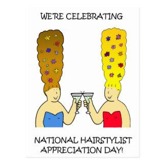 Cartão Postal Dia nacional da apreciação do Hairstylist