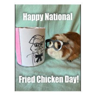 Cartão Postal Dia nacional do frango frito